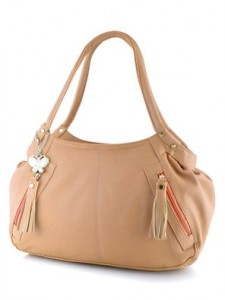 Butterflies Women's Handbag Peach from Amazon
