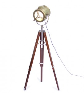 Ethnic Roots Wooden Tripod Floor Lamp on pepperfry