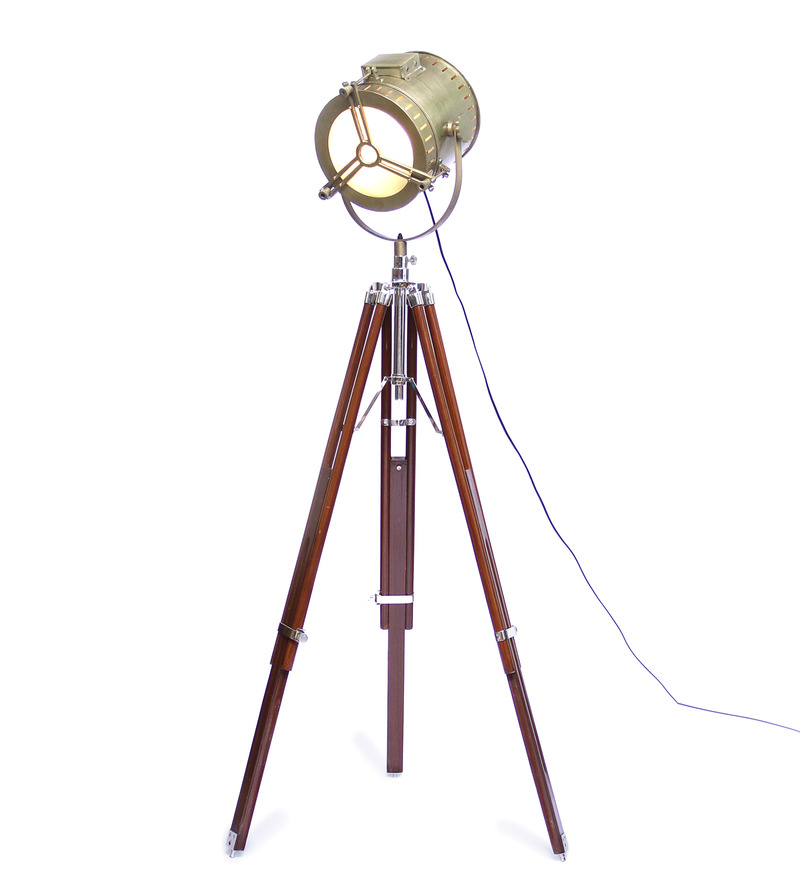 Buy ethnic roots tripod floor lamp at rs 8409 pepperfry for Cheap tripod lamp