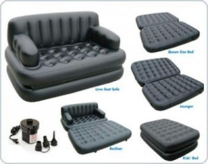 Inflatable Sofa Air Bed Couch with Free Electric Pump1