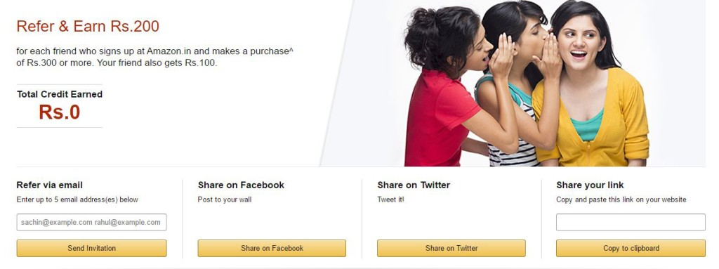 Amazon Refer and earn