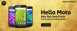 Flipkart Hello Moto Offer on select models