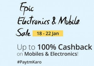 Paytm Epic Electronics and Mobile Sale Offers