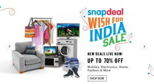 Snapdeal Independence Day Sale