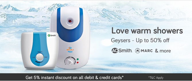 Snapdeal Geysers Offer