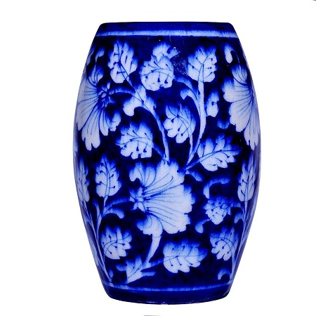 Himalaya Craft Blue Pottery Ceramic Flower