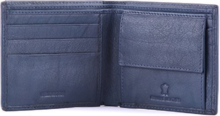 Wildhorn Blue Leather Men's Wallet