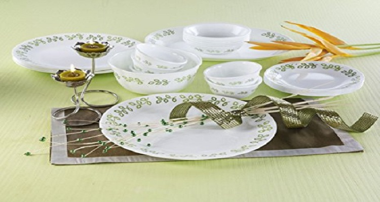 Corelle Livingware Neo Leaf Glass Dinner